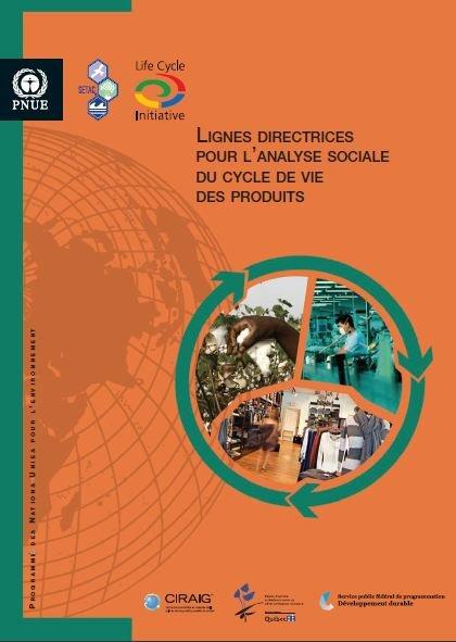Lignes directrices pour l'analyse sociale du cycle de vie des produits dans PRODUITS Capture3