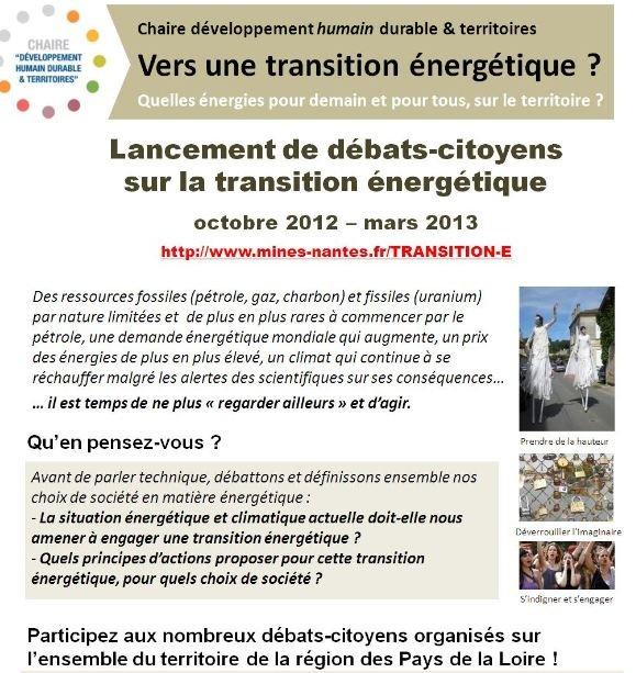 Débats citoyens « Vers une transition énergétique ? » dans A L'OUEST Capture