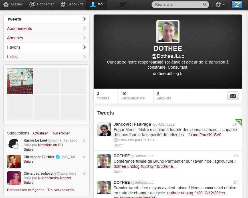 Actualité : ouverture d'un compte Twitter dans ACTUALITE capture1
