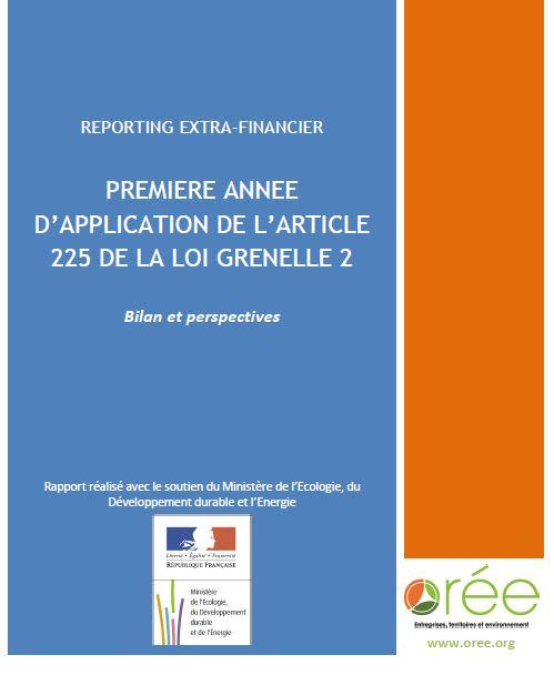 Bilan et Perspectives du reporting extra-financier (Orée et MEDDE) dans RSE capture6