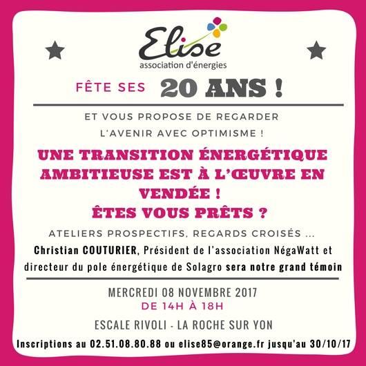 Invitation 20ans ELISE